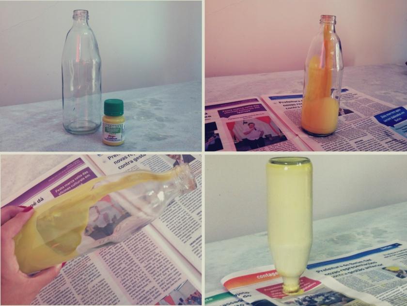 DIY garrafa verde