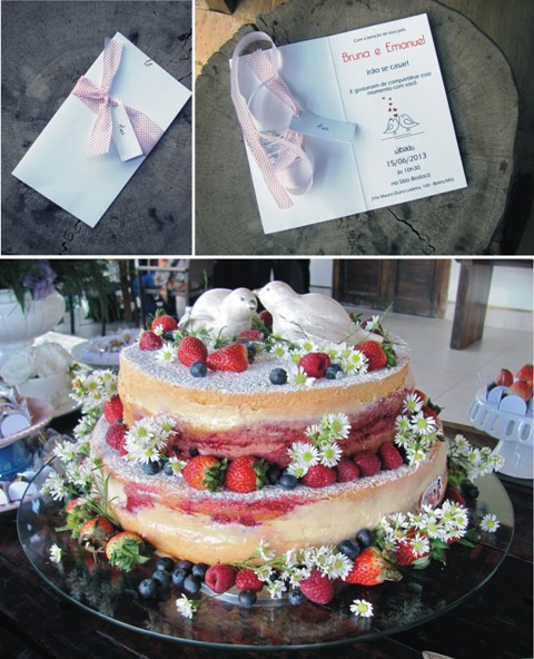 convite e bolo