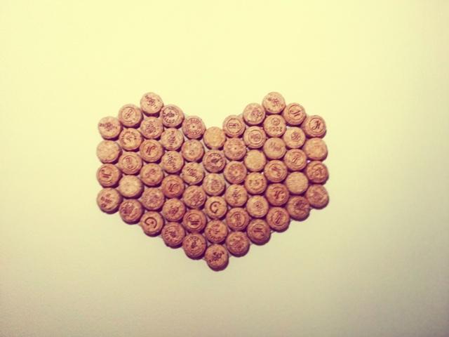 coração de rolhas
