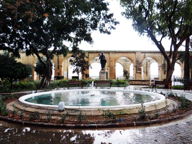 Fonte dos Jardins Barrakka, em Valletta.