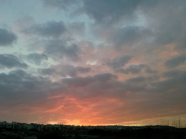 O úllitmo pôr-do-sol na Ilhota.