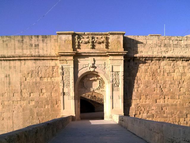 Entrada para um dos fortes de Vittoriosa, onde também fica o Malta at War Museum.