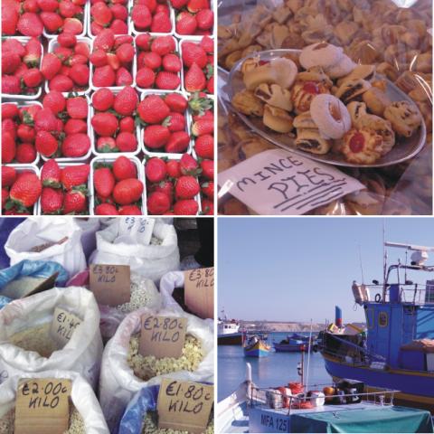 Também é possível encontrar frutas, doces e grãos no Fish Market. :)