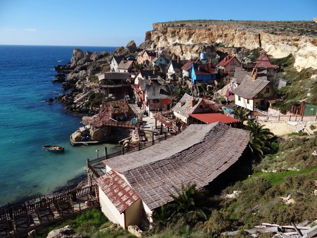A vila do Popeye em Malta
