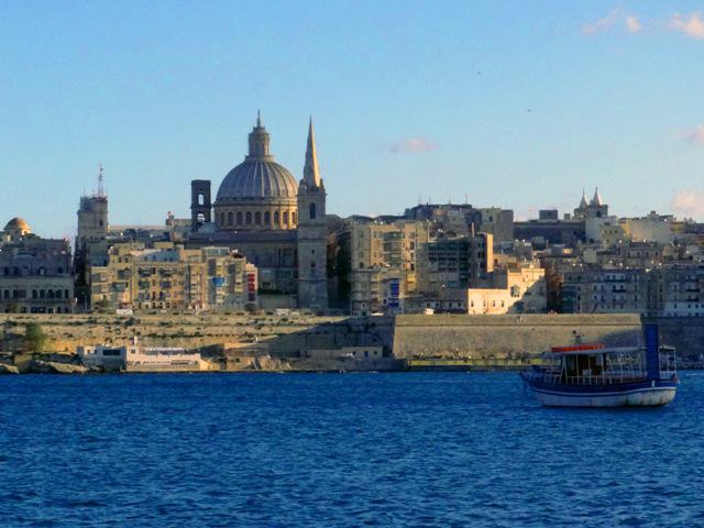 Valletta, a capital de Malta, vista de Sliema.