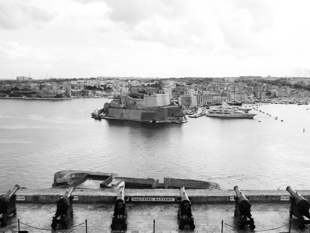 Vista do Grand Harbour de Malta.